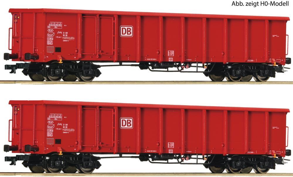 Roco 37645 TT 2er Set Offene Güterwagen DB AG V-VI