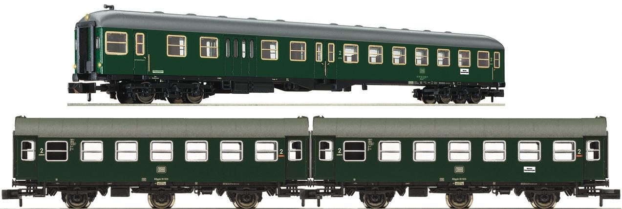 Fleischmann 866486 N 3er-Set Nahverkehrszug DB IV