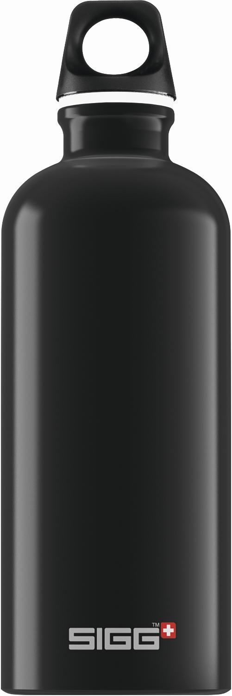 SIGG Trinkflasche Alu Traveller Black 0.6l