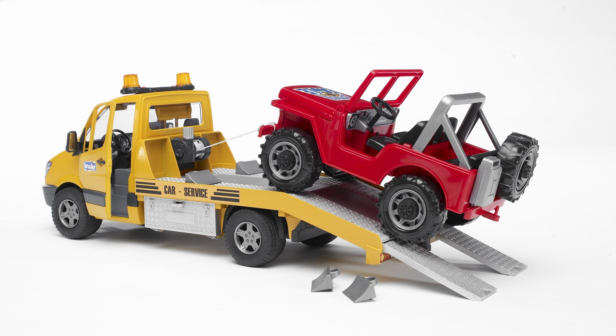 BRUDER MB Sprinter Autotransporter