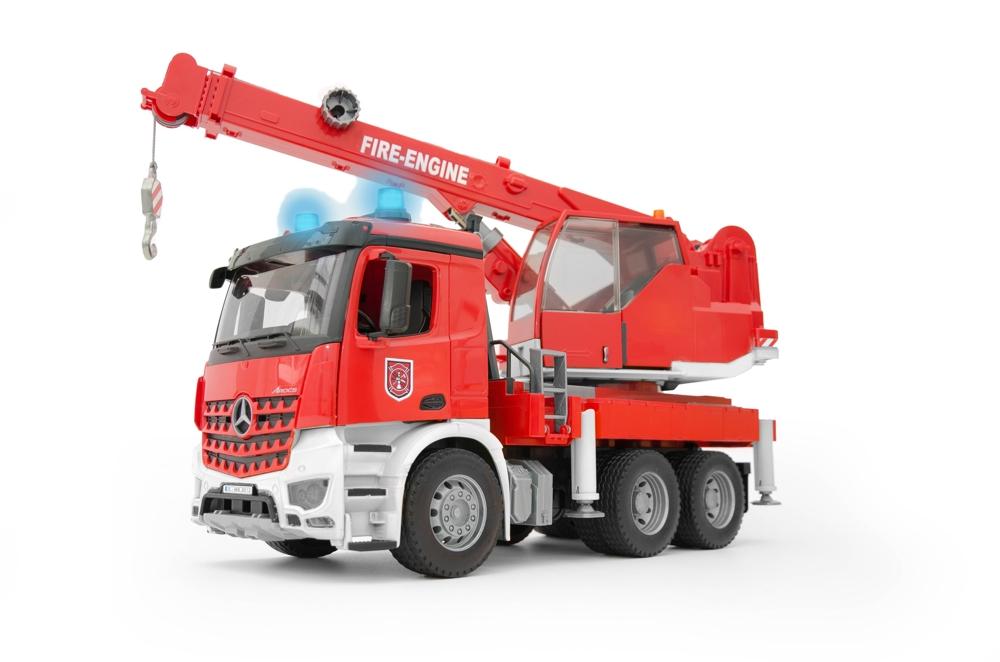 Bruder MB Arocs Feuerwehr Kran mit Licht und Sound