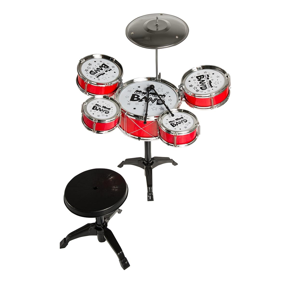 Schlagzeug mit Hocker