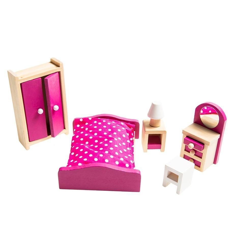 SMIKI Puppenhaus Schlafzimmermöbel