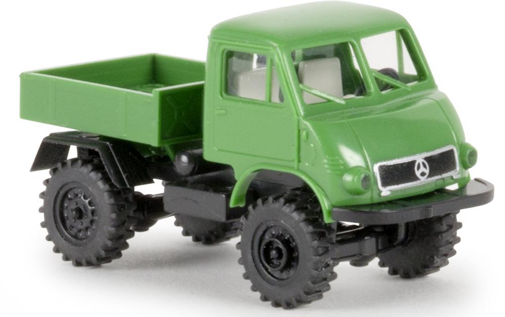 Brekina H0 Unimog 402 grün-schwarz
