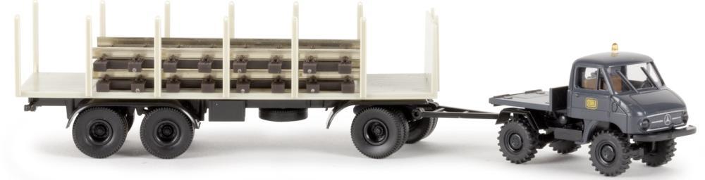Brekina H0 Unimog 411 DB mit Anhänger