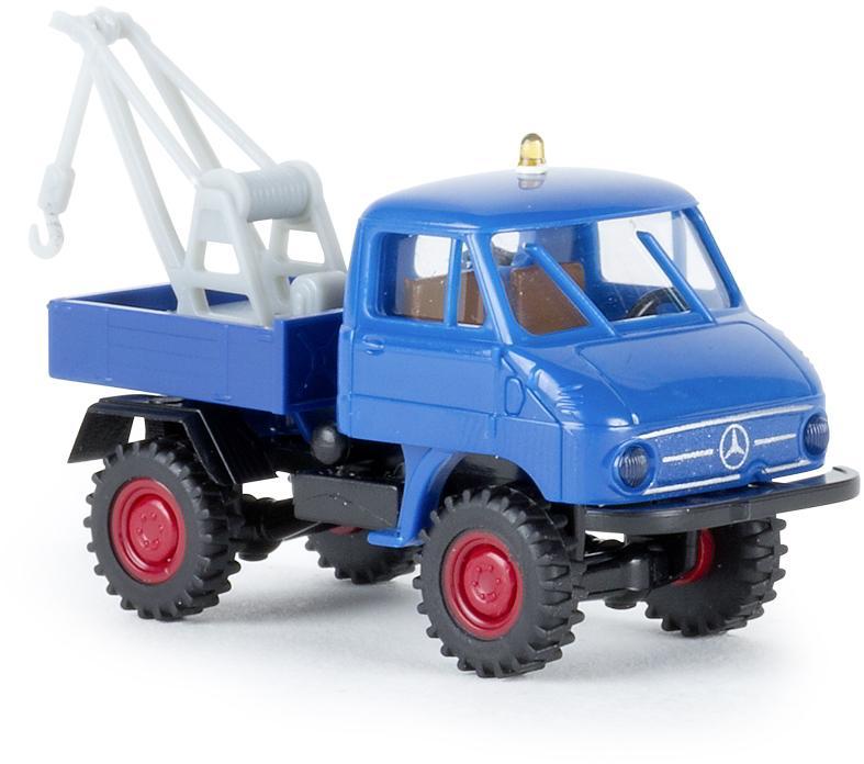 Brekina H0 Unimog 411 Abschleppwagen