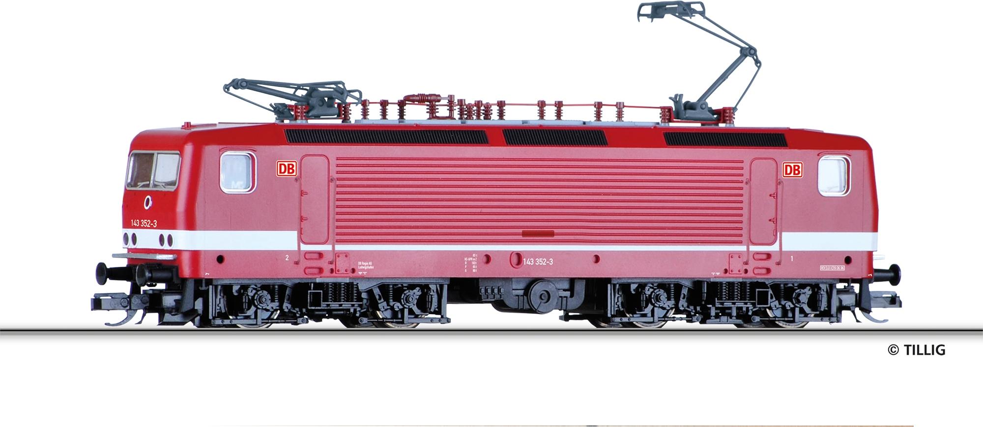 Tillig 04340 TT E-Lok 143 352-3 DB AG V