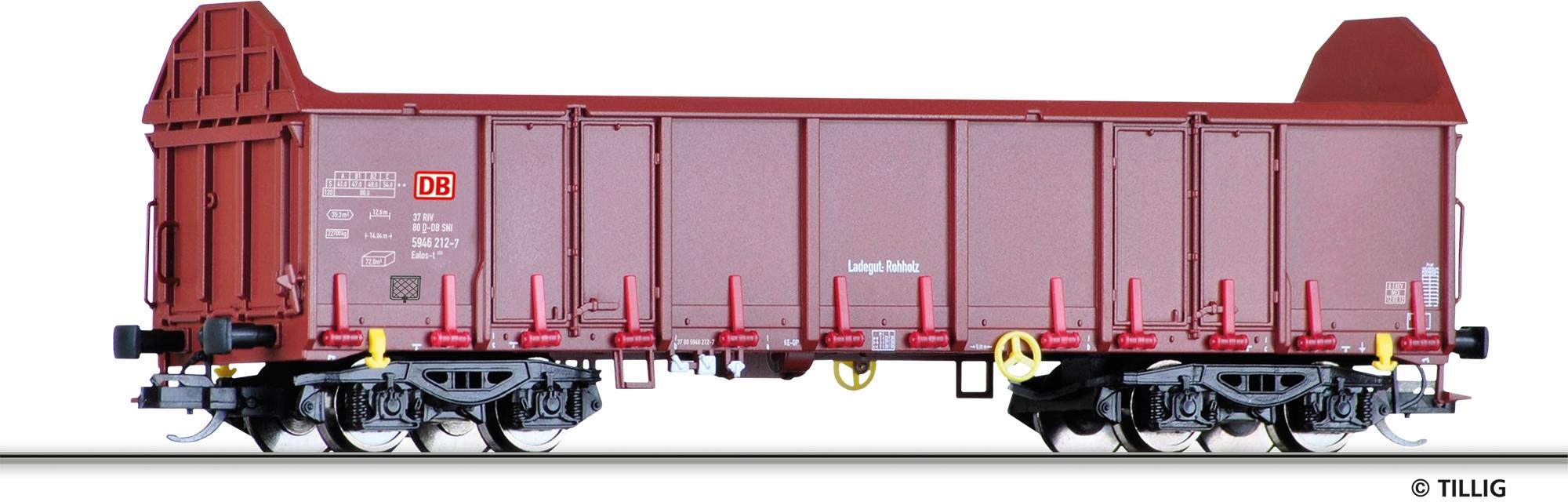 Tillig 15273 TT Offener Güterwagen Ealos-t 058