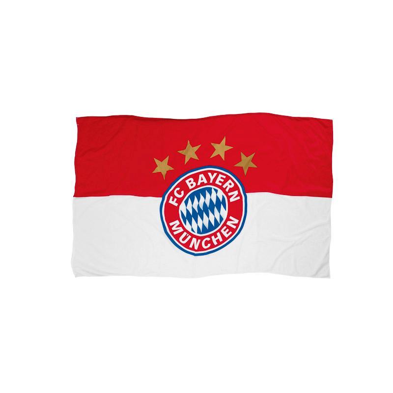 FC Bayern Fahne Logo 60x40 cm mit Stock