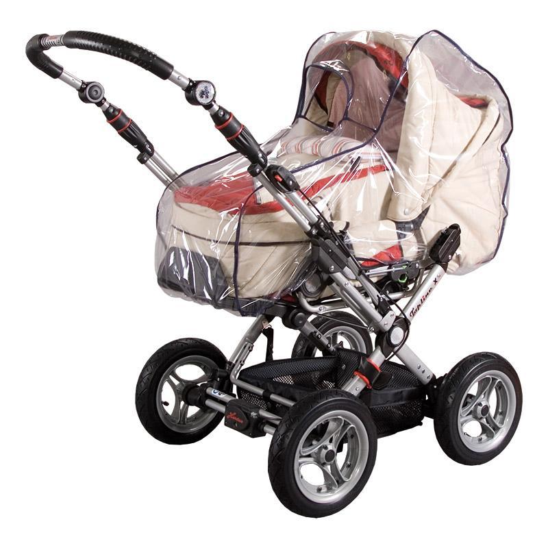 SunnyBaby Regenverdeck für Kinderwagen mit Schild