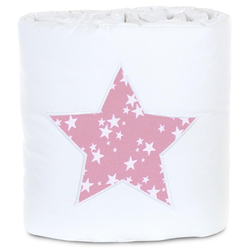 babybay Nestchen Weiß mit Sterne Rosa