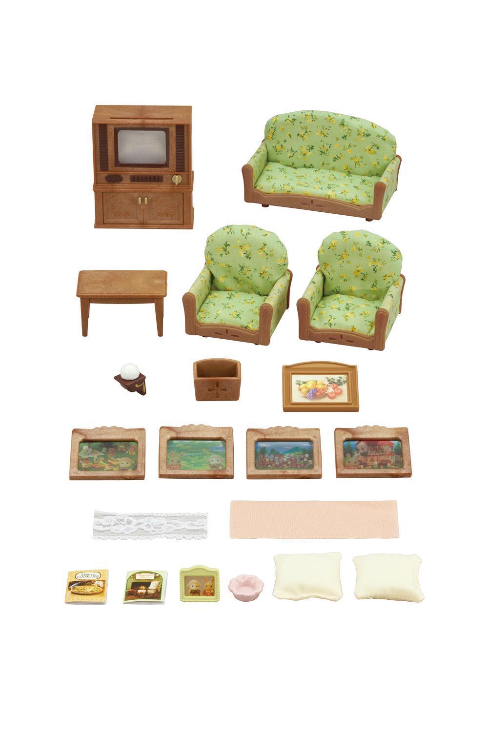 Sylvanian Families Wohnzimmer-und TV-Set