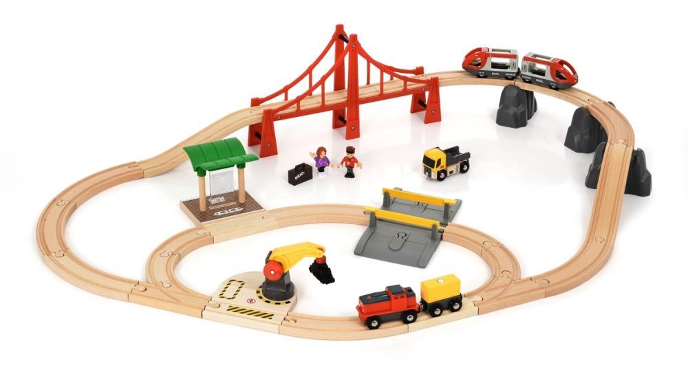 Großes City Frachten Eisenbahn Set