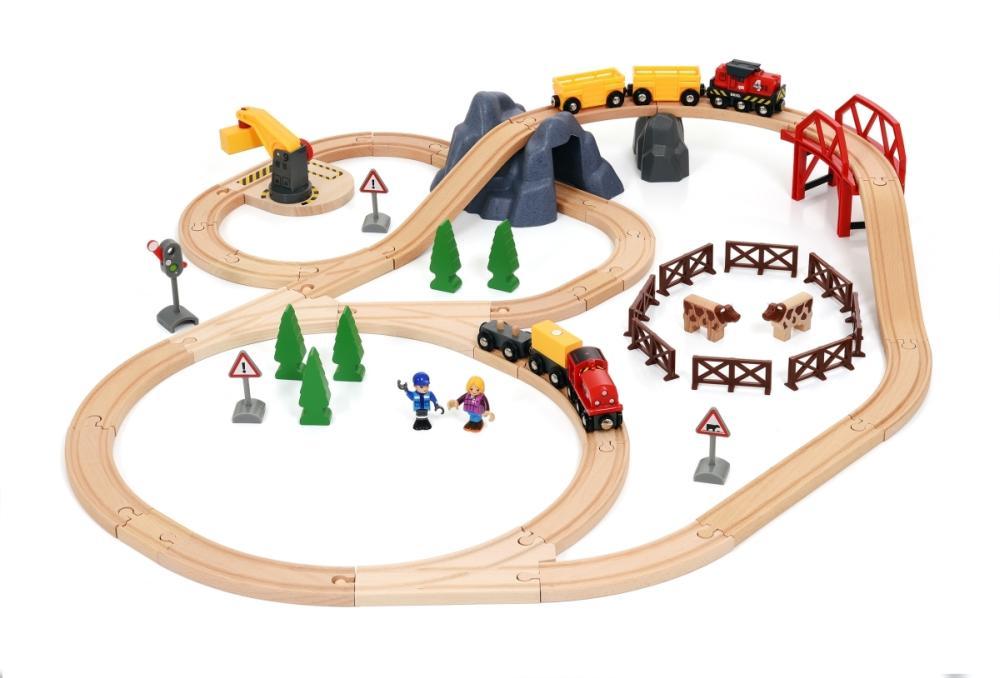 Großes Countryside & Cargo Eisenbahn Set