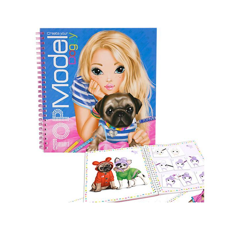 TOPModel Doggy Malbuch