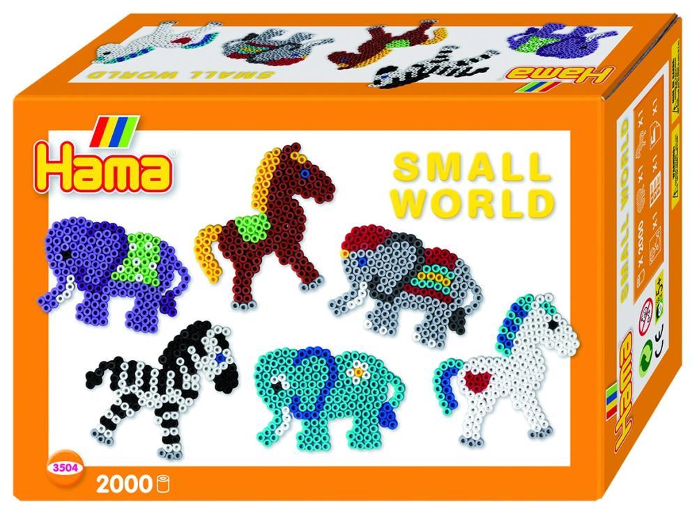 HAMA Bügelperlen Kleine Welt Elefant und Pony