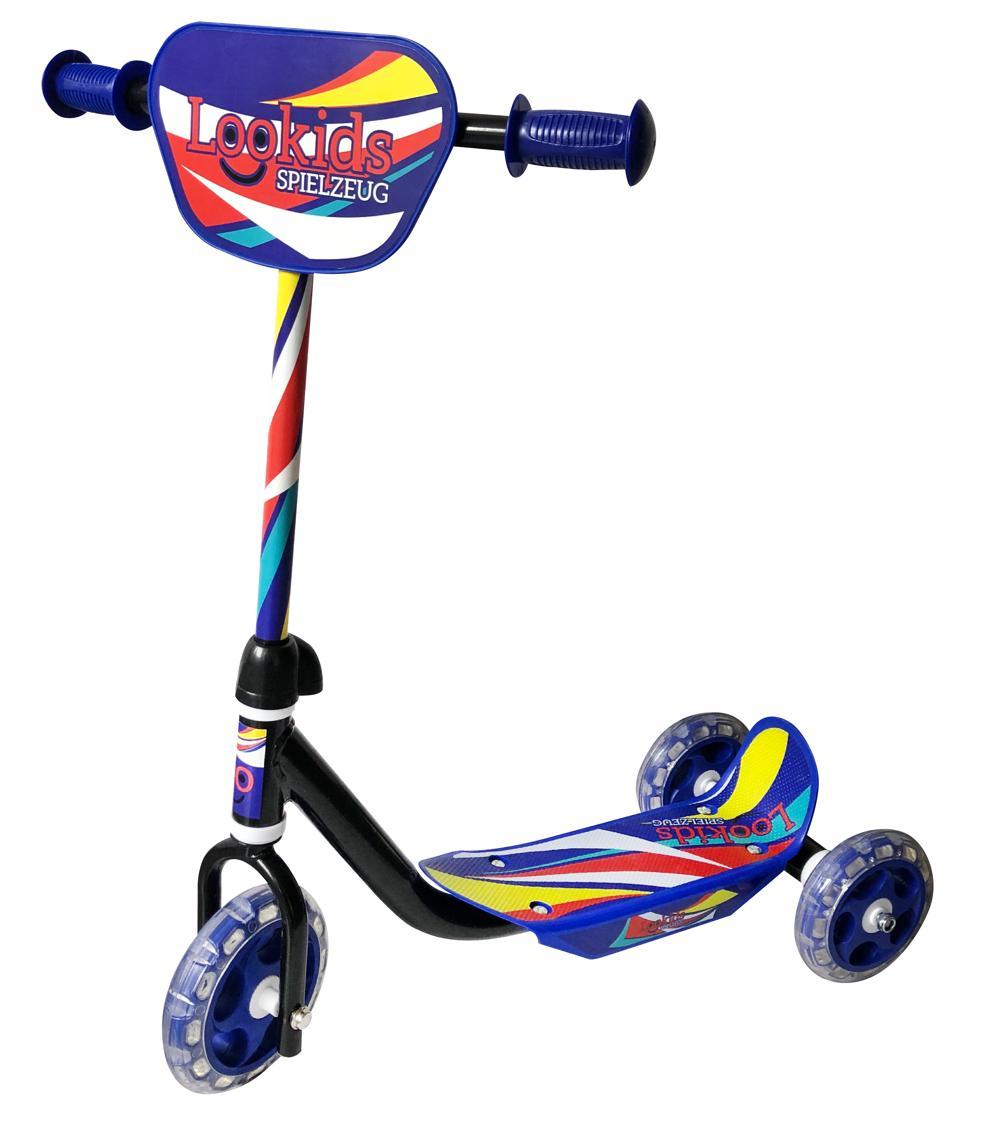Lookids Scooter 3 Räder blau rot