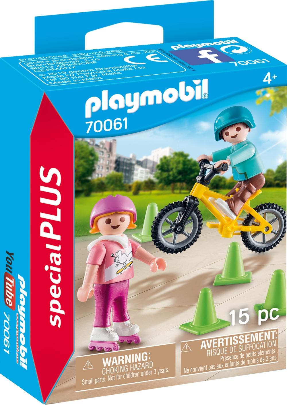 PLAYMOBIL 70061 Kinder mit Skates und BMX-Rad
