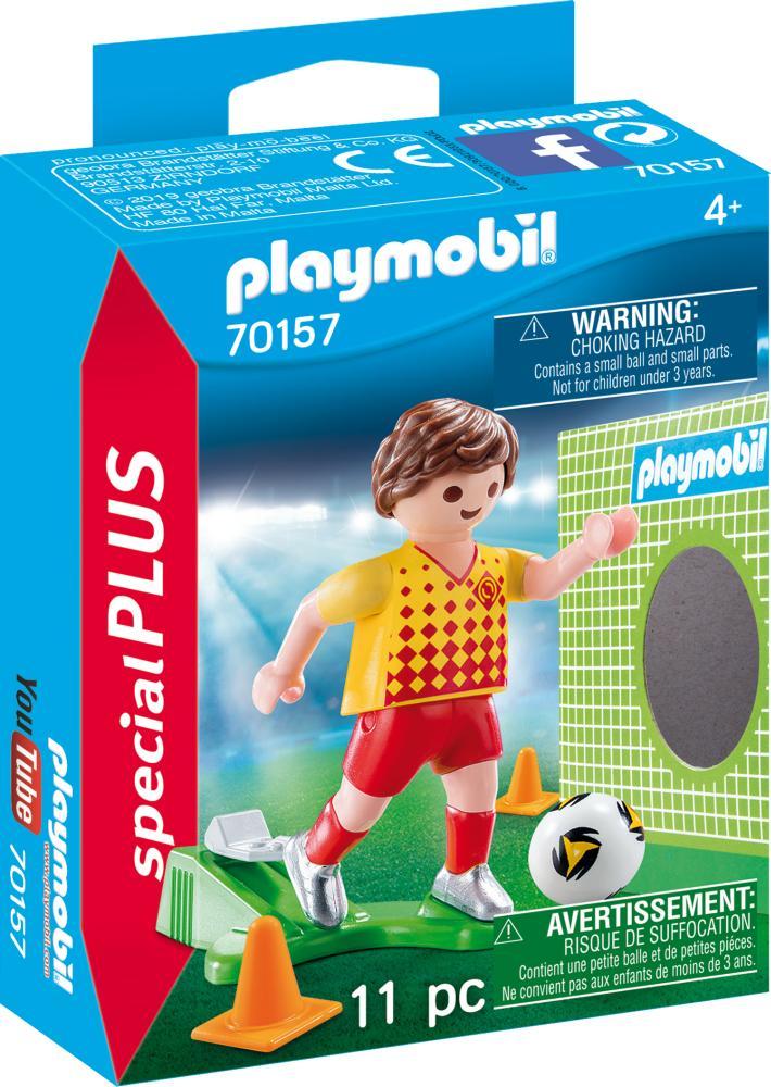 PLAYMOBIL 70157 Fußballspieler mit Torwand