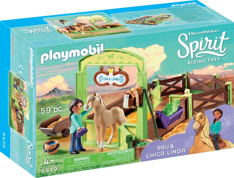 PLAYMOBIL 9479 Pferdebox Pru und Chica Linda