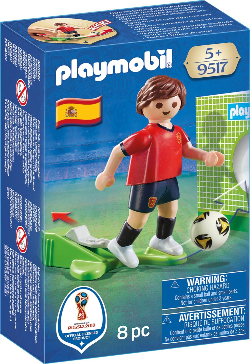 PLAYMOBIL 9517 Fußballspieler Spanien