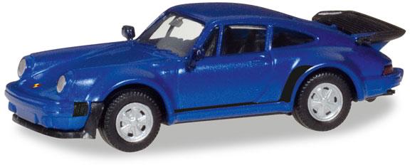 Herpa 030601-002 Porsche 911 Turbo blaumetallic