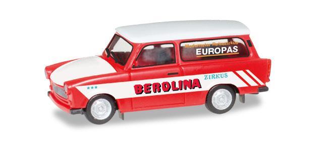 Herpa 092739 Trabant 601 Universal Zirkus Berolina