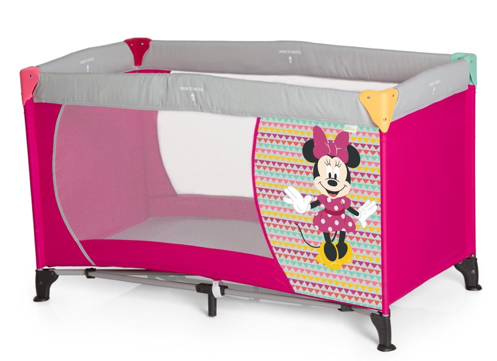 Hauck Reisebett Dream N Play Minnie Geo Pink