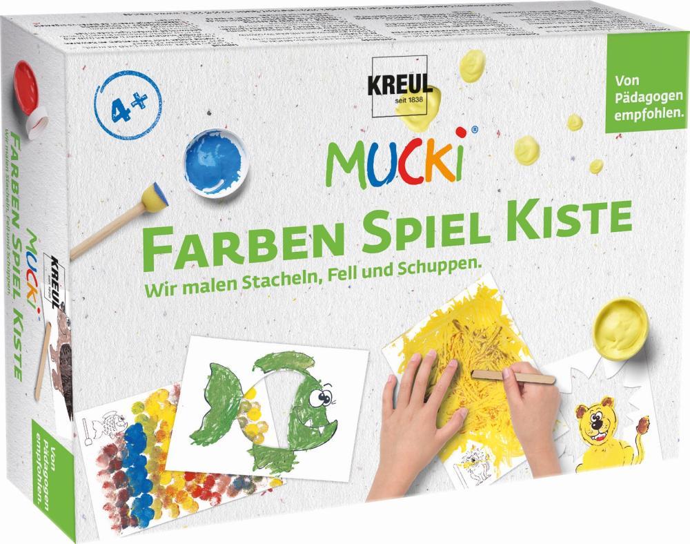 MUCKI Farben Spiel Kiste: Wir malen Stacheln, Fell