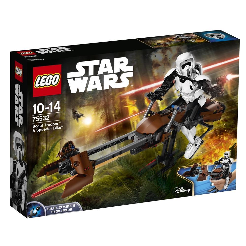 LEGO Star Wars 75532 Scout Trooper und Speeder Bik