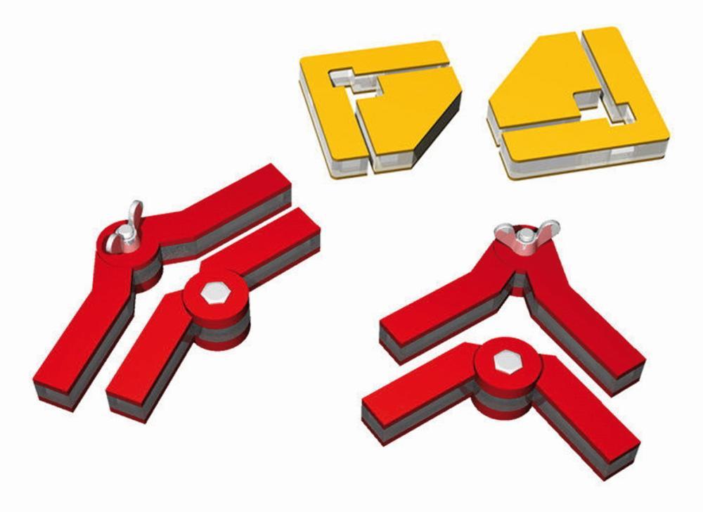 Snap and Glue Winkelmagneten-Set