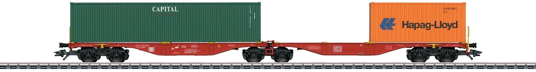 Märklin H0 Doppel-Containertragwagen DB AG VI