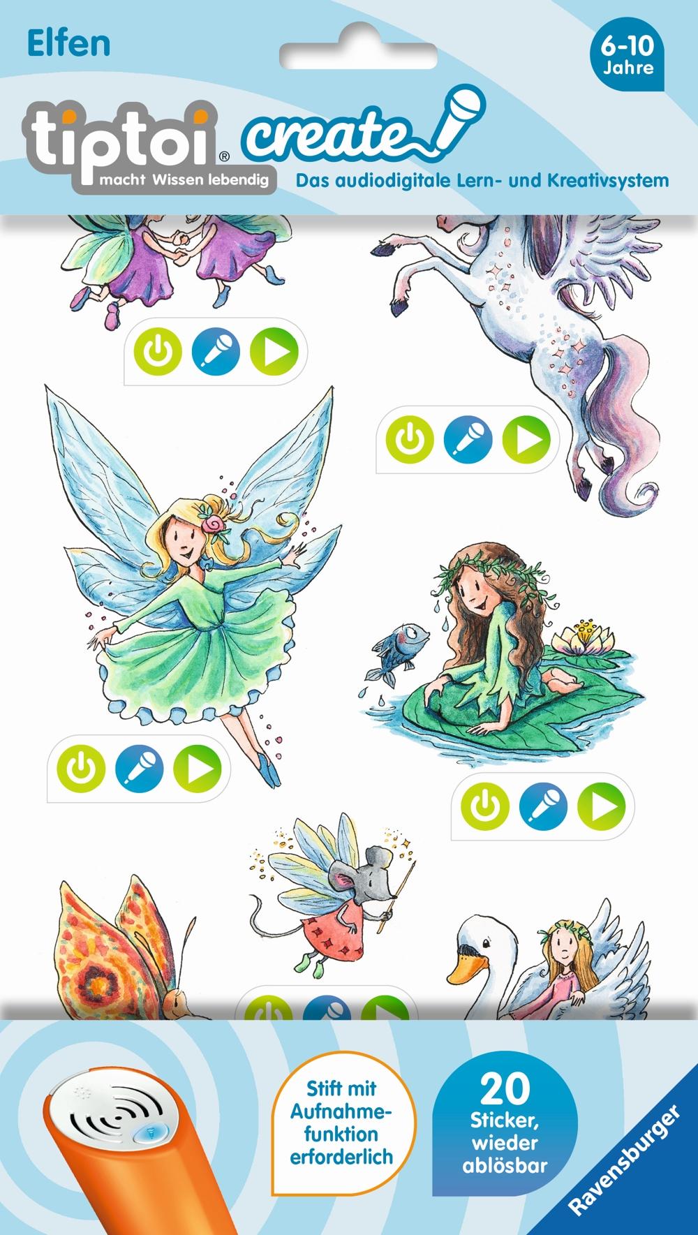 Ravensburger tiptoi CREATE Sticker Elfen
