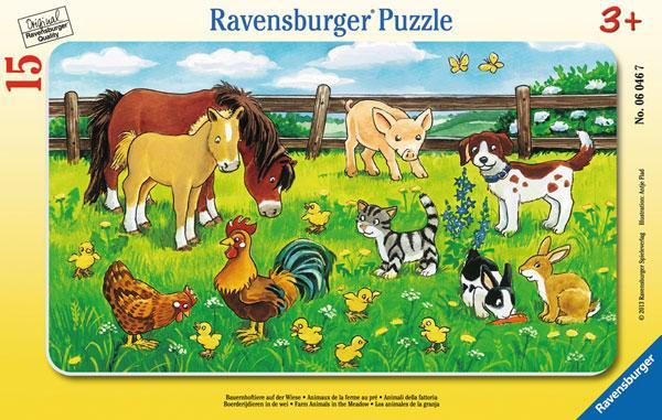 Ravensburger Puzzle Bauernhoftiere auf der Wiese