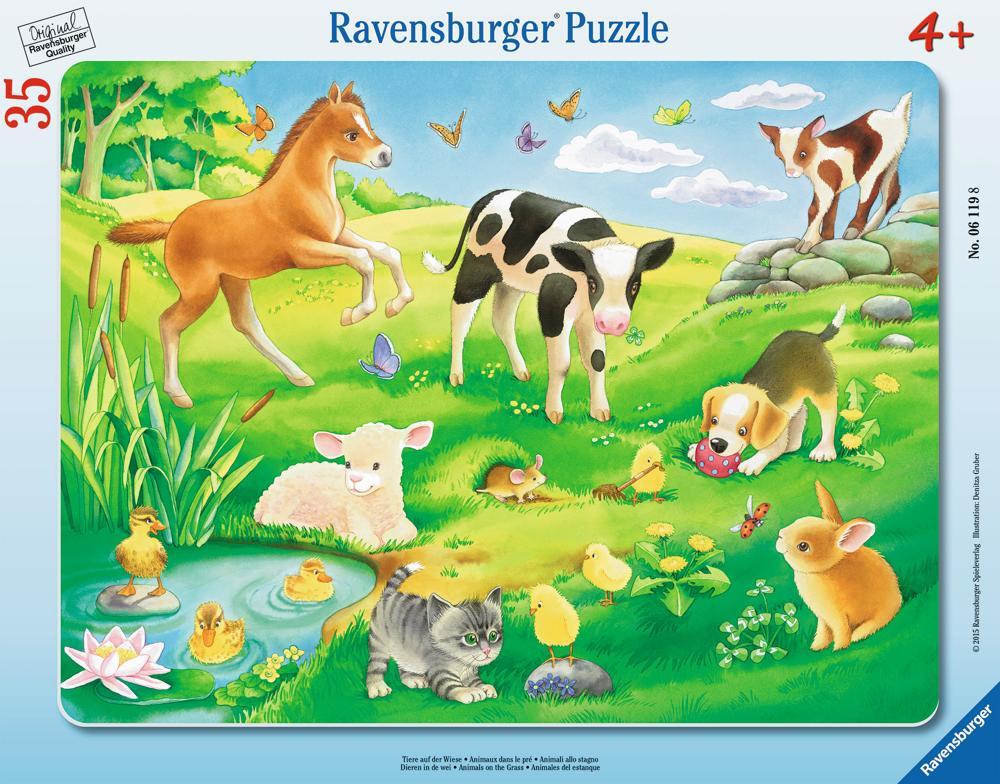 Ravensburger Puzzle Tiere auf der Wiese