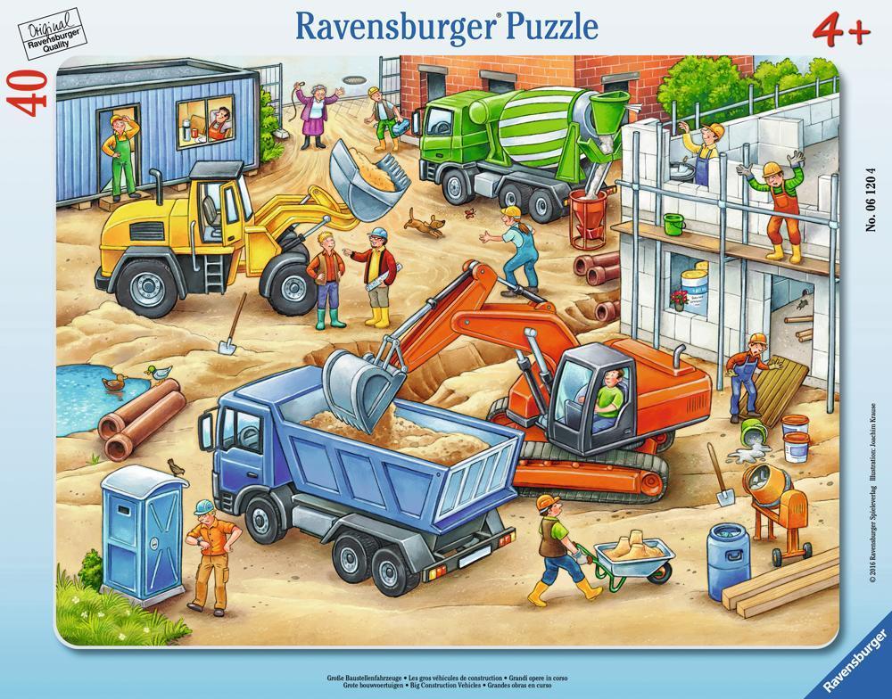 Ravensburger Puzzle Große Baustellenfahrzeuge