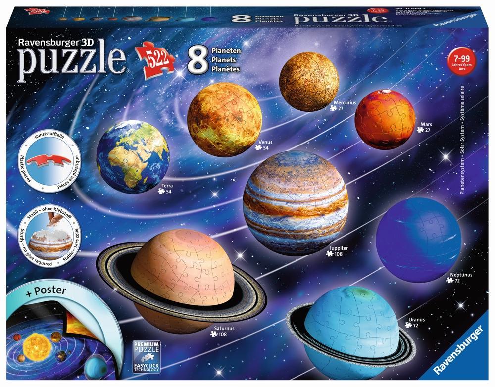 Ravensburger 3D Puzzle Ball Set Planetensystem