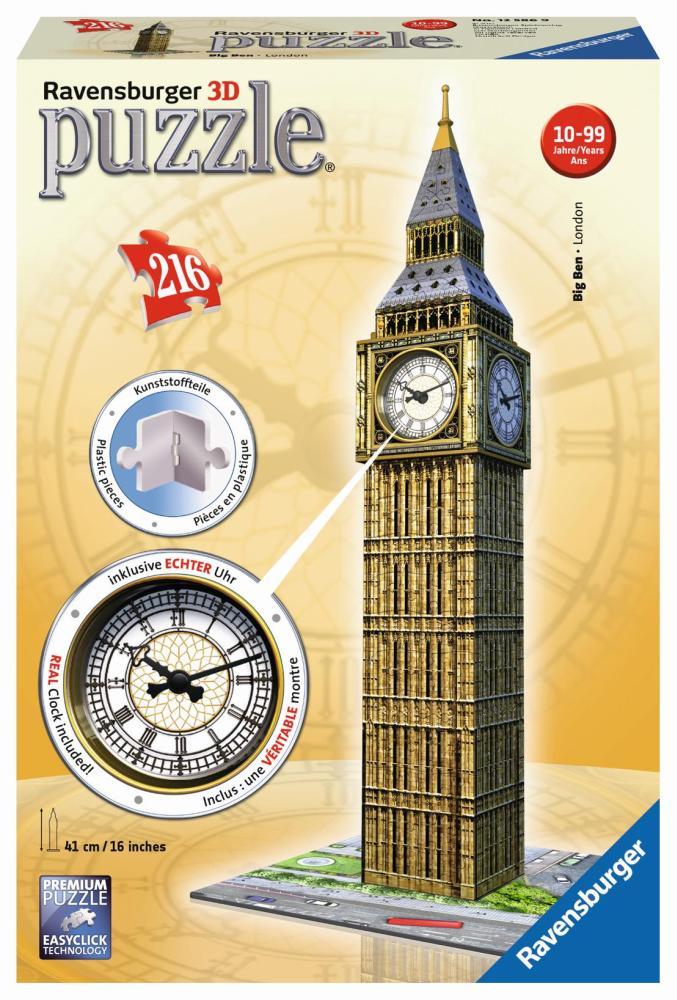 Ravensburger 3D Puzzle Big Ben mit Uhr