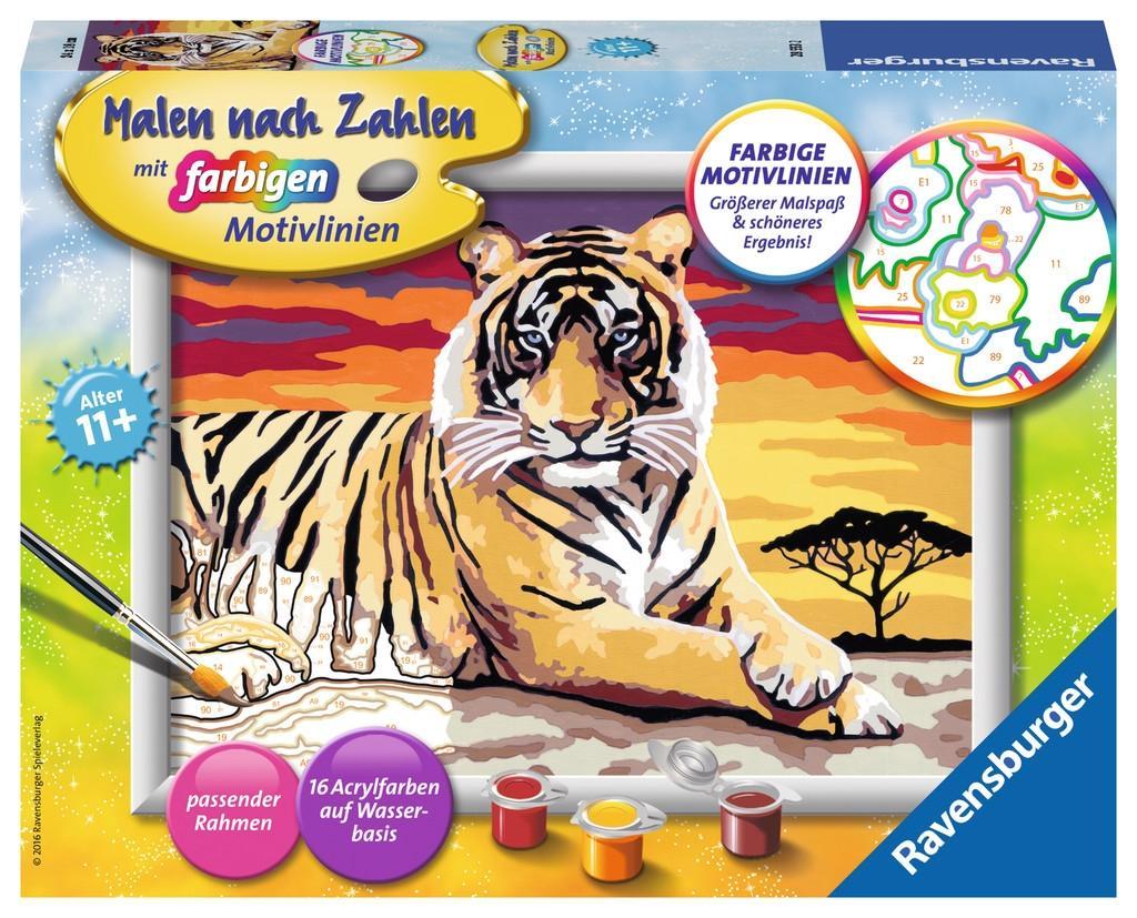 Ravensburger Malen nach Zahlen Tiger