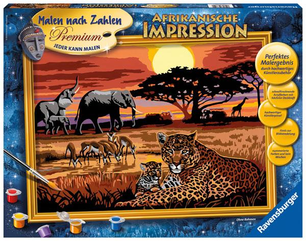 Ravensburger Malen nach Zahlen Afrika
