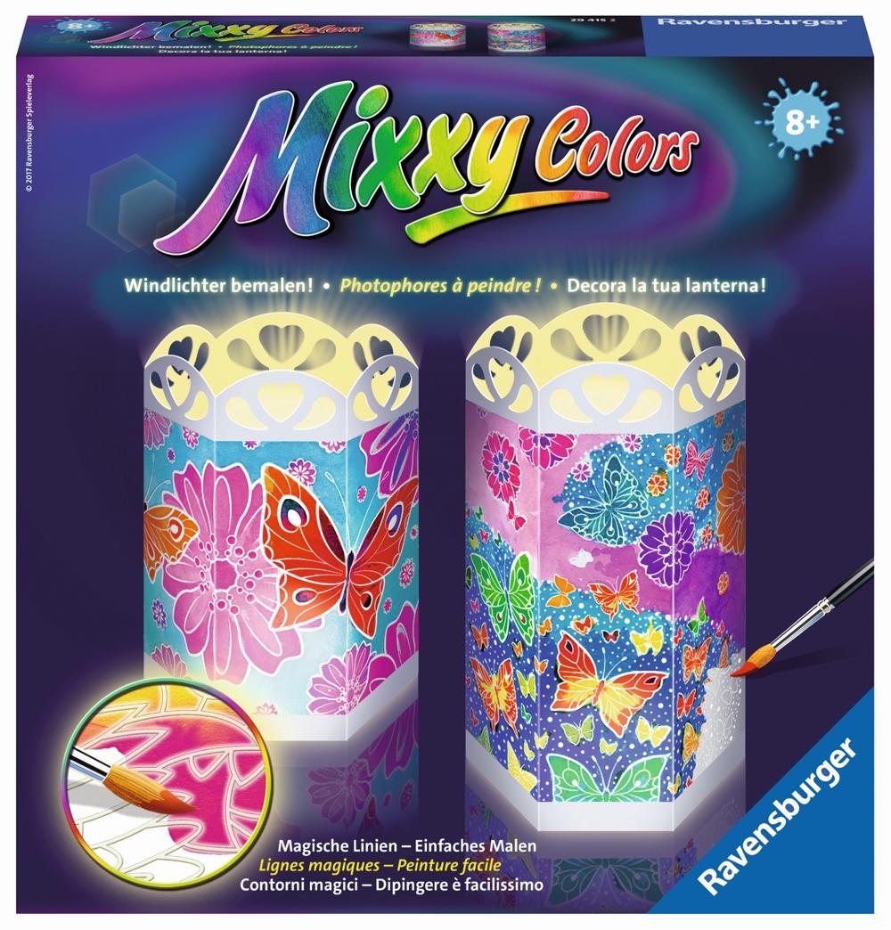 Mixxy Colors Windlicht bunte Schmetterlinge