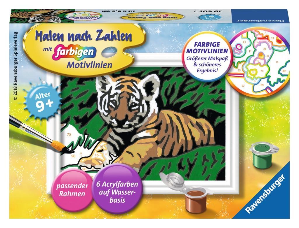 Ravensburger Malen nach Zahlen Süßer Tiger