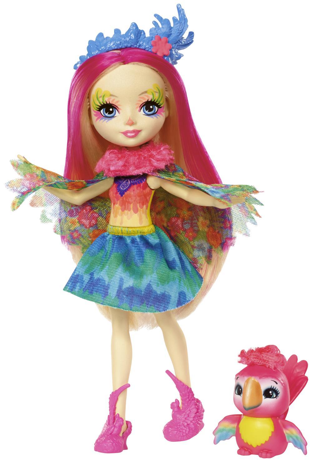 Enchantimals Papageienmädchen Peeki Parrot