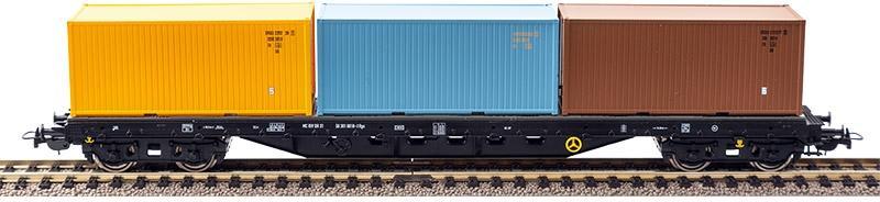 PIKO 72200 H0 Containertragwagen mit DR-Containern