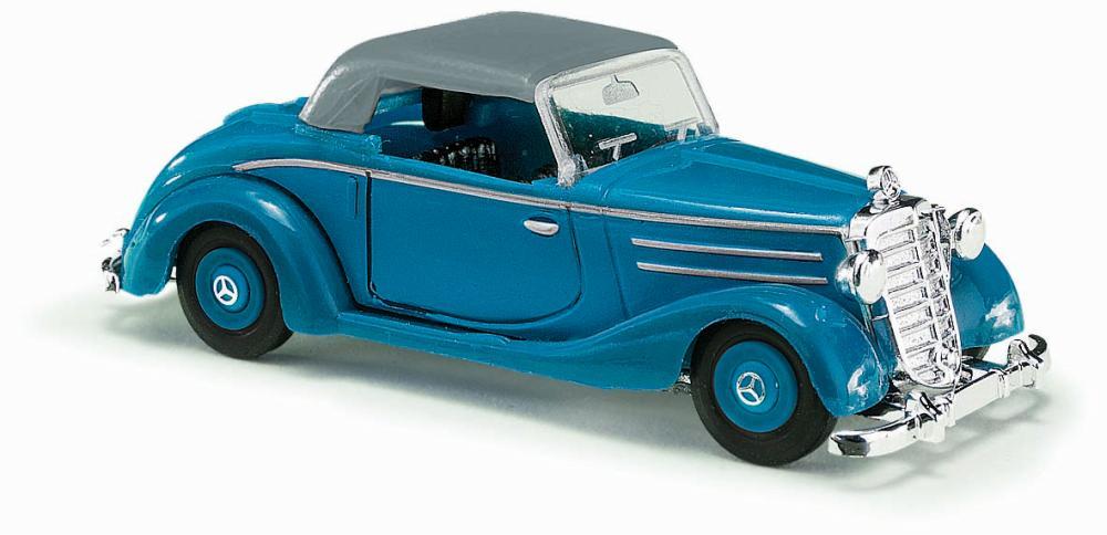 BUSCH 40526 H0 Mercedes 170S Cabrio blau