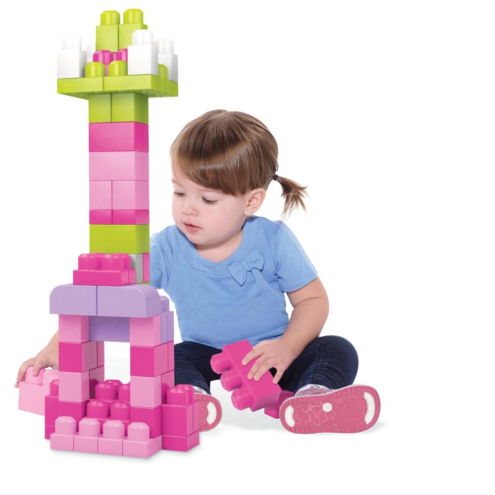 MEGA BLOKS Maxi Bausteinebeutel - 60 Teile pink