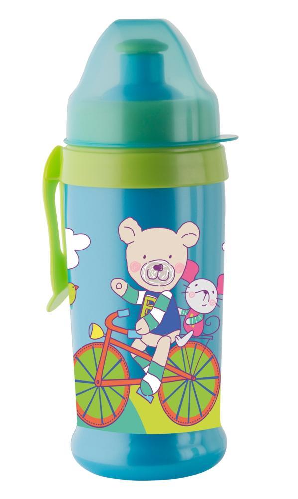 Trinkflasche PushPull aquamarine-apple green