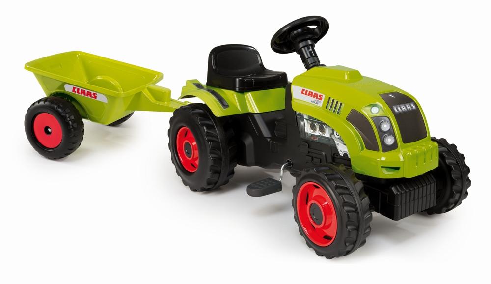 Smoby Traktor Claas mit Anhänger