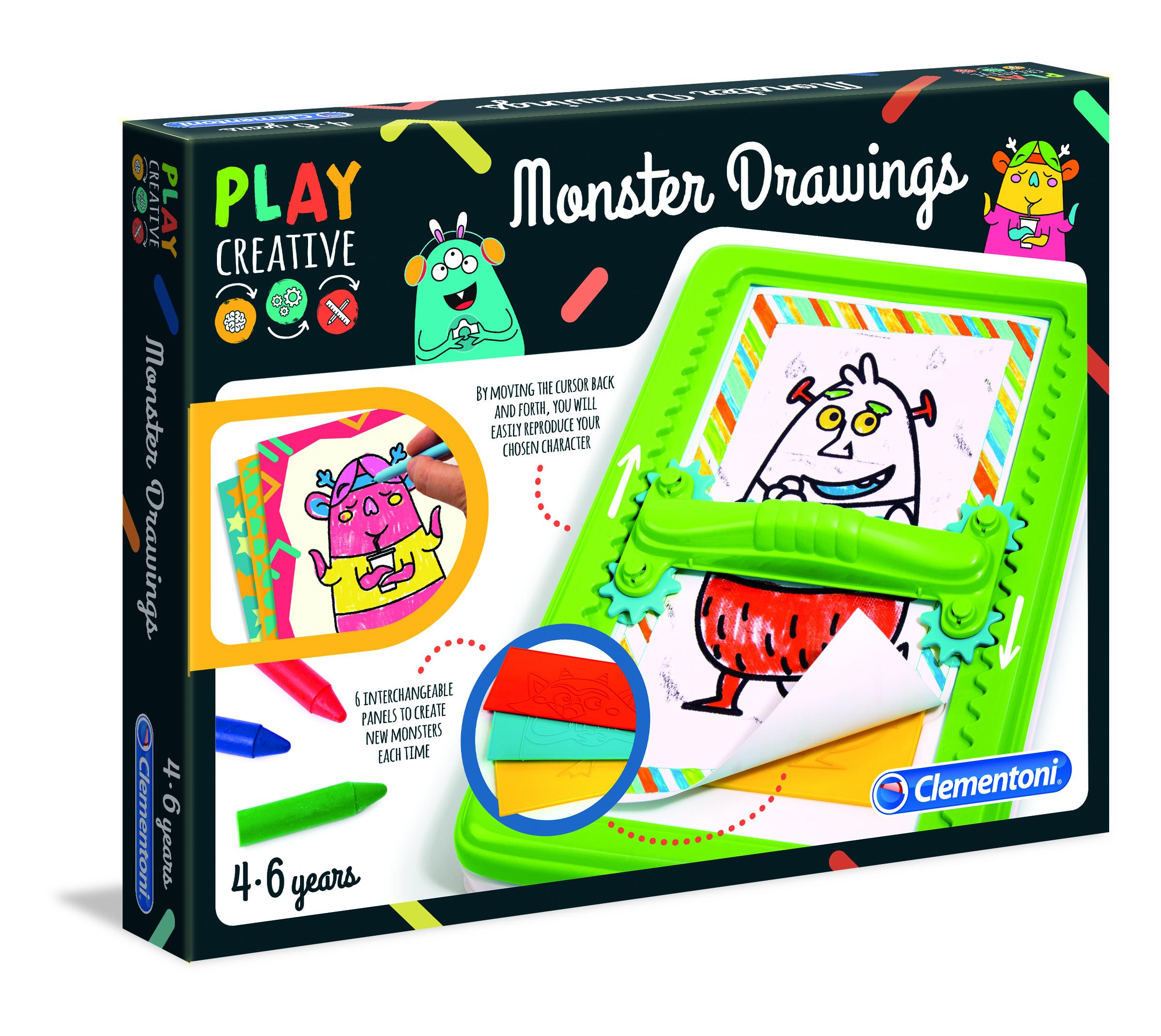 Clementoni Play Creative Gestalte lustige Monster