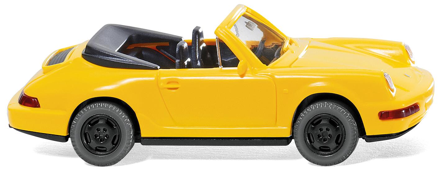 WIKING 016504 Porsche Carrera Cabrio gelb